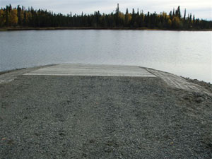 A photo from Stormy Lake's shore (adfg.alaska.gov).