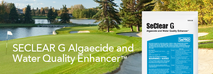 SeClear G Algaecide and Water Quality Enhancer.