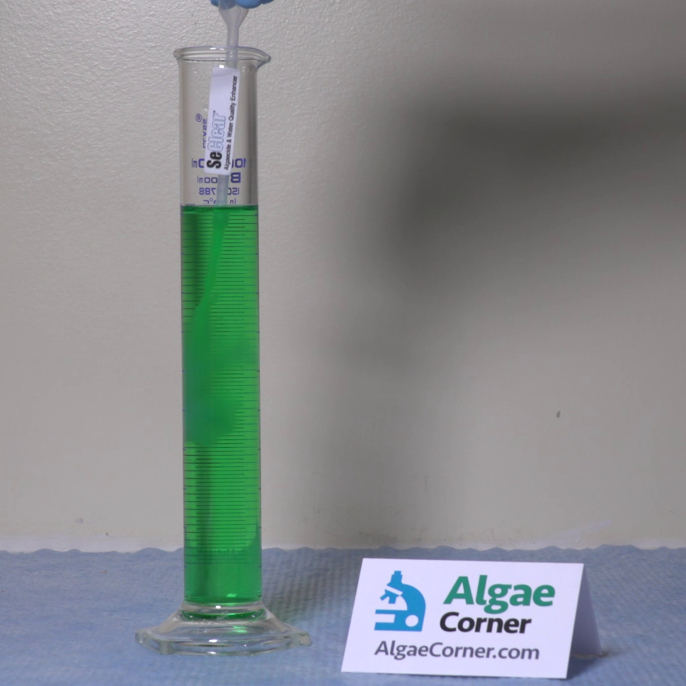 A lab demonstration before treatment with SeClear