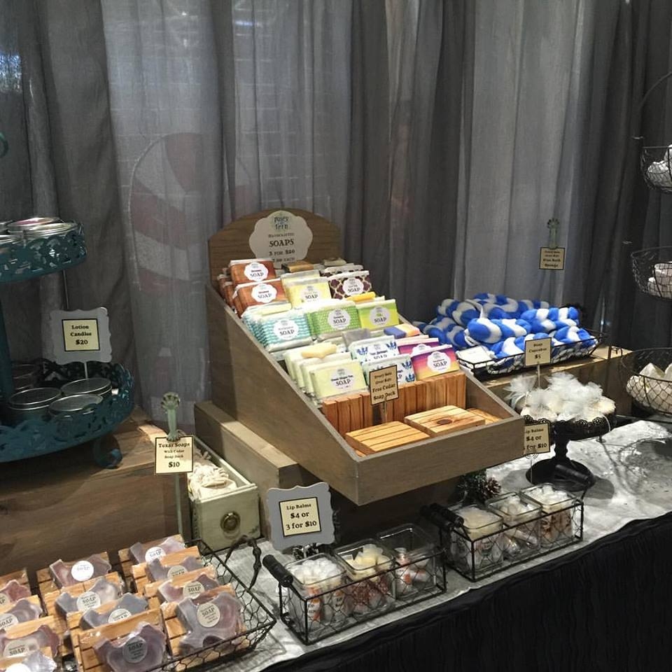 My booth at a craft show this past weekend.  Yes, I still do craft shows.  And I still shop at them, too.
