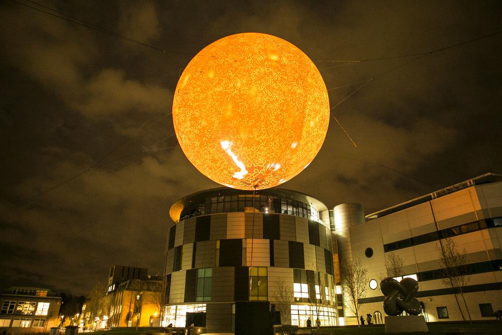 Rafael Lozano Hemmer,  Solar Equation  , Lumiere 2013, photo by Matthew Andrews