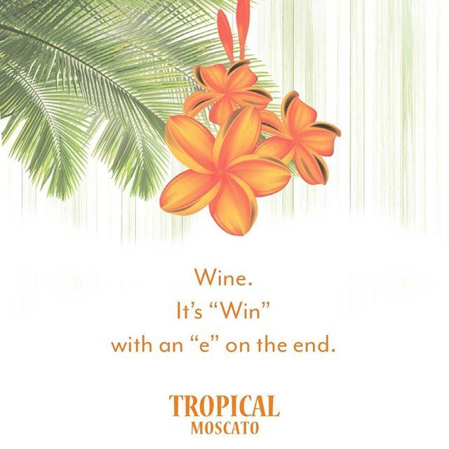 We wish you a winning #WineWednesday! 🥂  #tropical #moscato #tropicalmoscato #wine #winelovers #winelife #winetime #winedownwednesday #paradiseinaglass #passionfruit #mango #strawberry #cheers