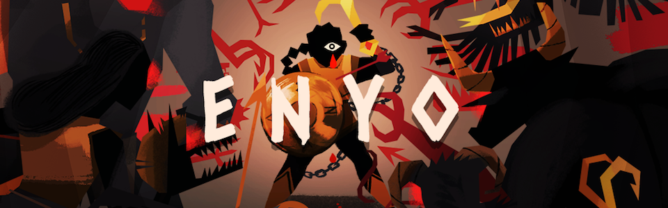 ENYO w/ TinyTouchTales and Winnie Song. iOS and Android. Grab your hook & shield and descend as Enyo, the Greek goddess of war, into an ever-changing labyrinth.
