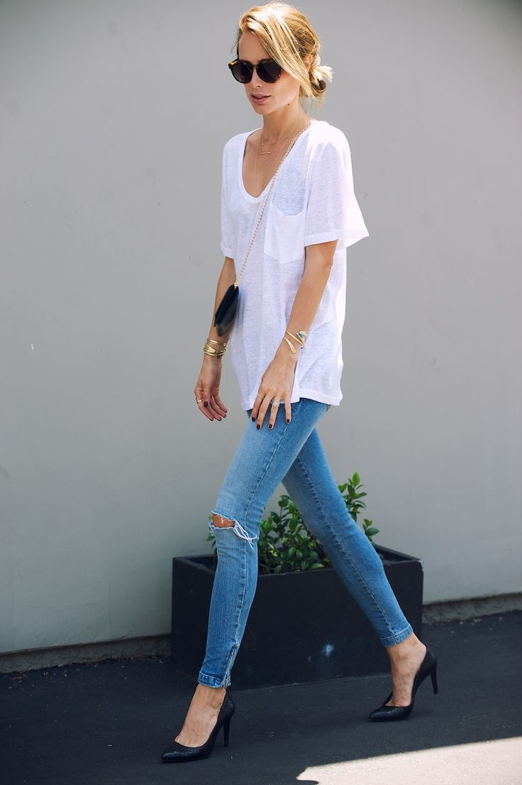 02072e5446ce 10 Ways to Wear a Plain White Tee — Society Letters