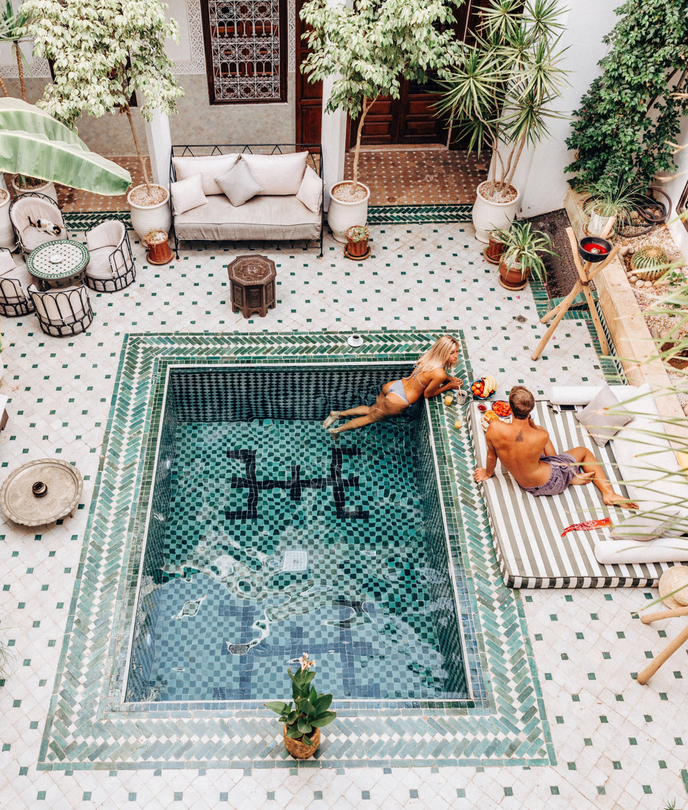 Morocco tiled pool
