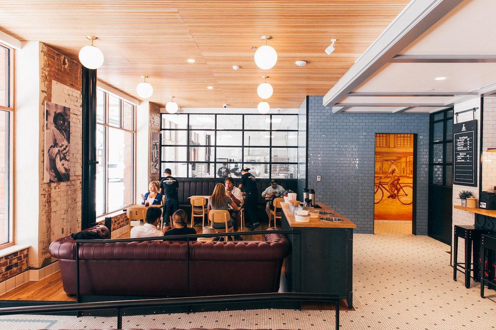chesterfield sofas polka dot vintage tile