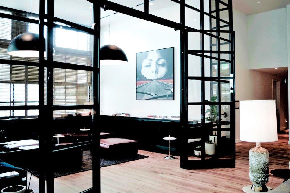 black iron french doors