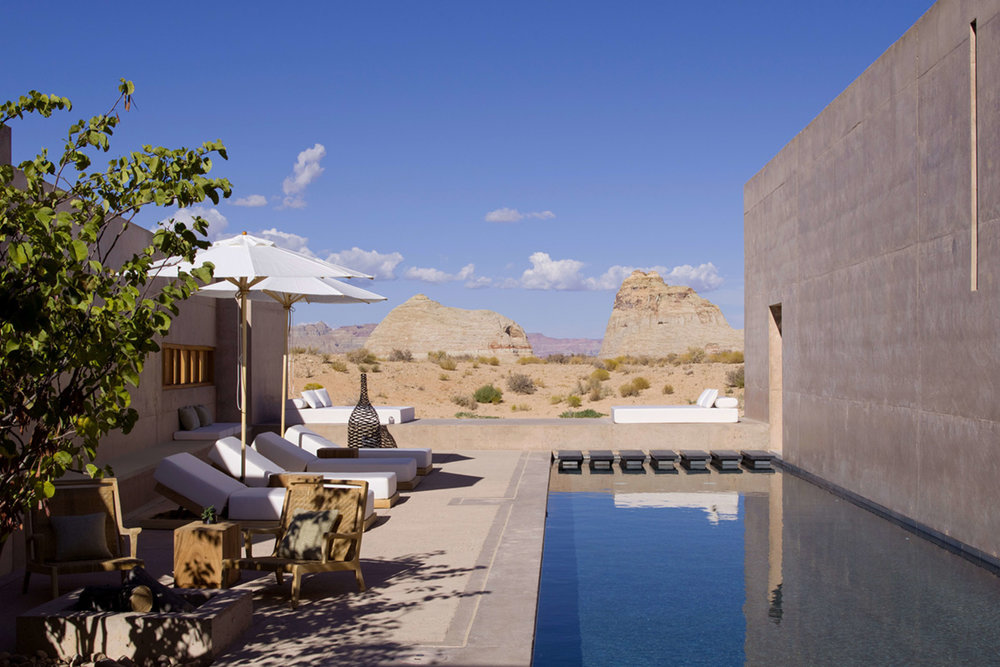 private modern pool desert