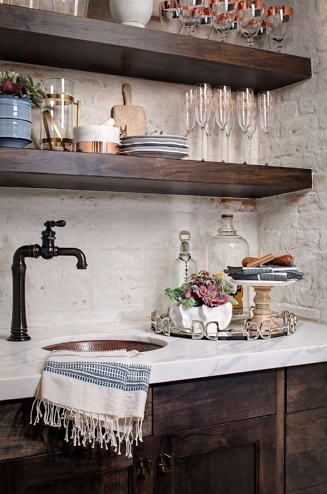 Farmhouse-Bar.-Farmhouse-Bar-with-dark-cabinets-white-marble-countertop-and-painted-brick-backsplash.-Farmhouse-Bar-FarmhouseBar.jpg