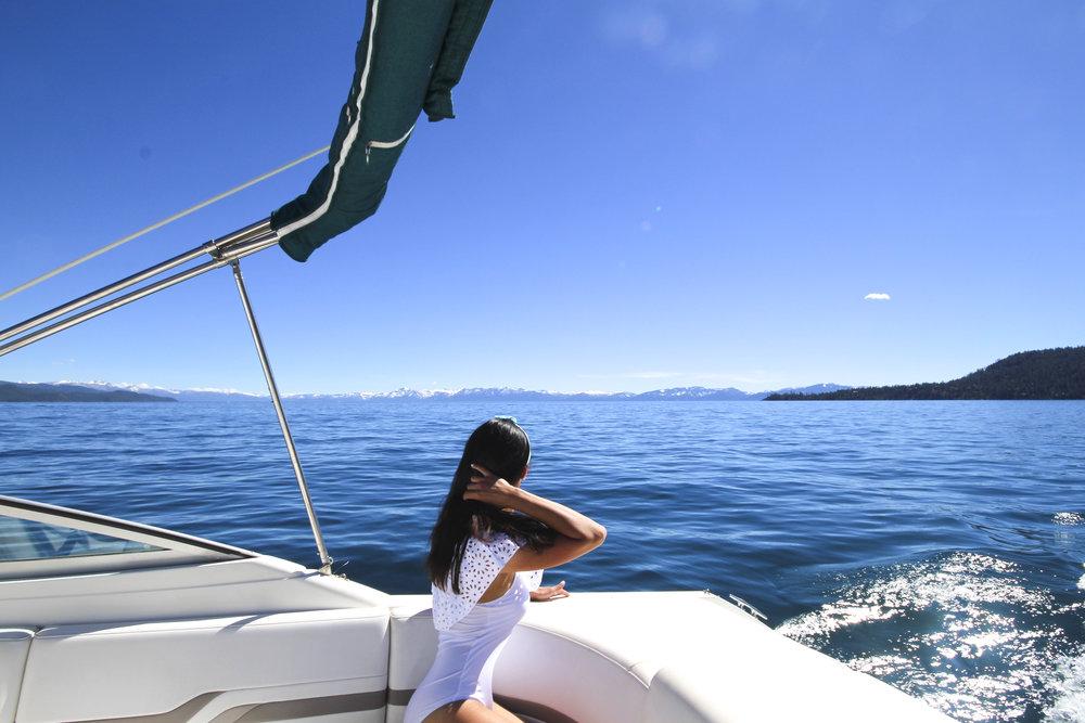 Summer boating on Lake Tahoe North