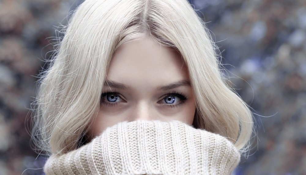 wintery blonde hair skin care