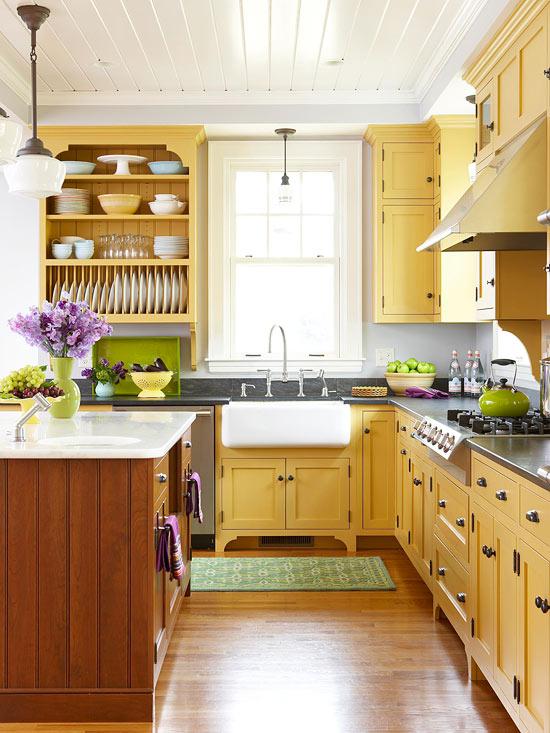sunny-yellow-kitchen-farmhouse-sink
