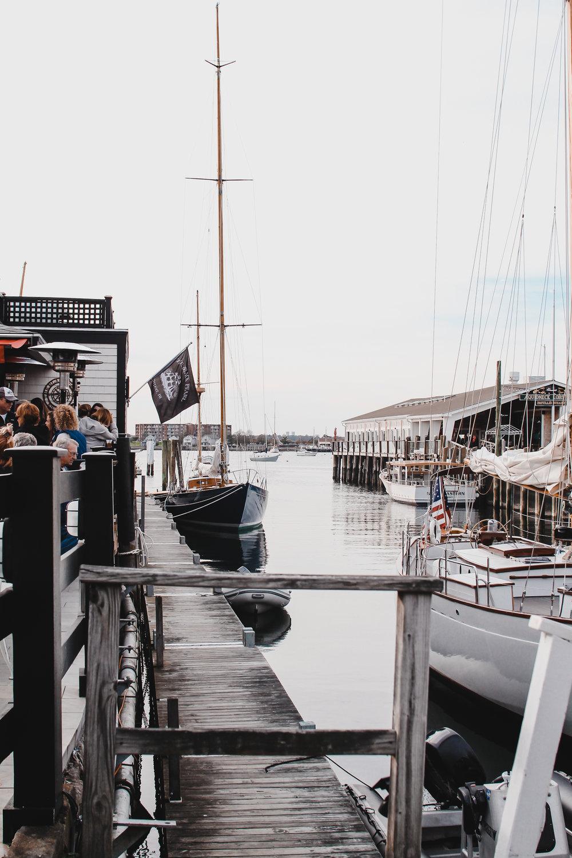 sunset sail boat madeleine newport RI