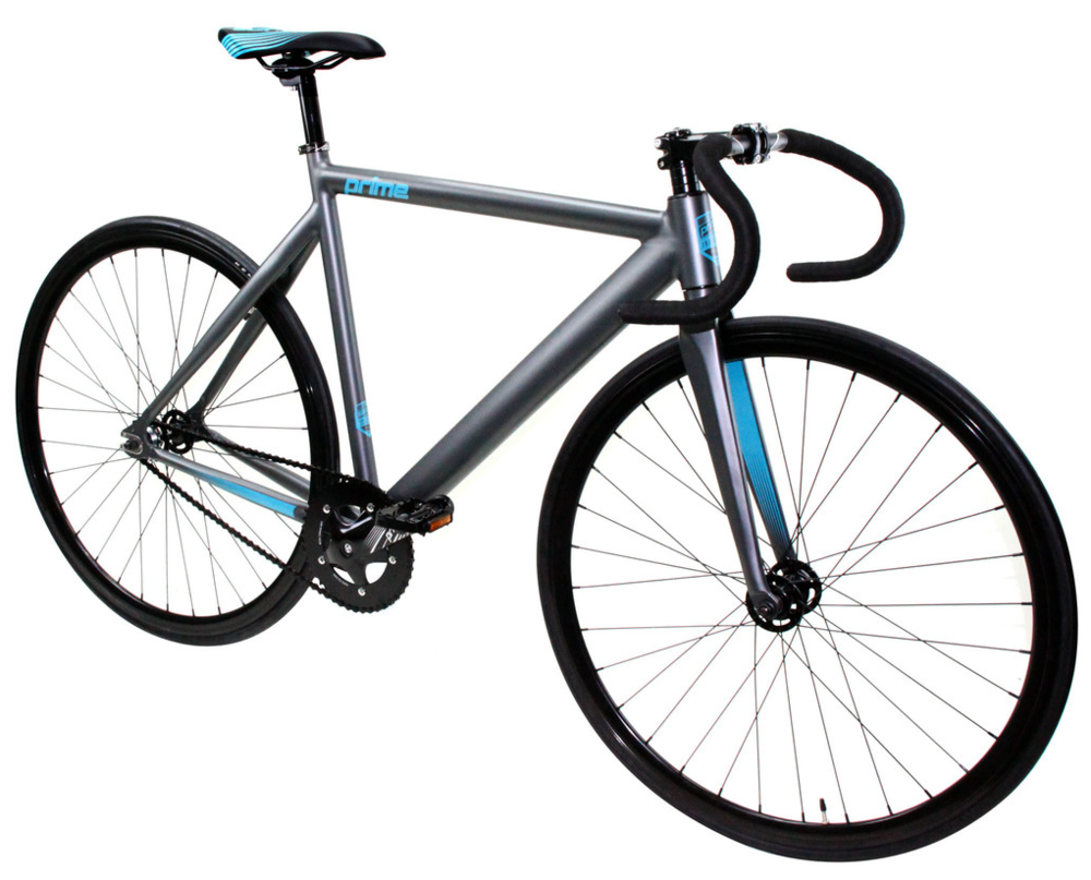 ZYCLE FIX PRIME $320   Grey frame, black wheels, drop handlebars.   Available in 48cm, 52cm, 55cm, and 59cm