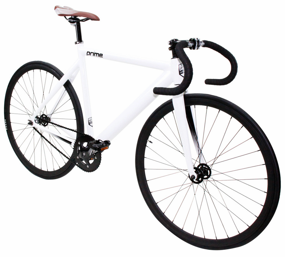ZYCLE FIX PRIME $350   White frame, blue wheels, drop handlebars. Available in 48cm, 52cm, 55cm, and 59cm