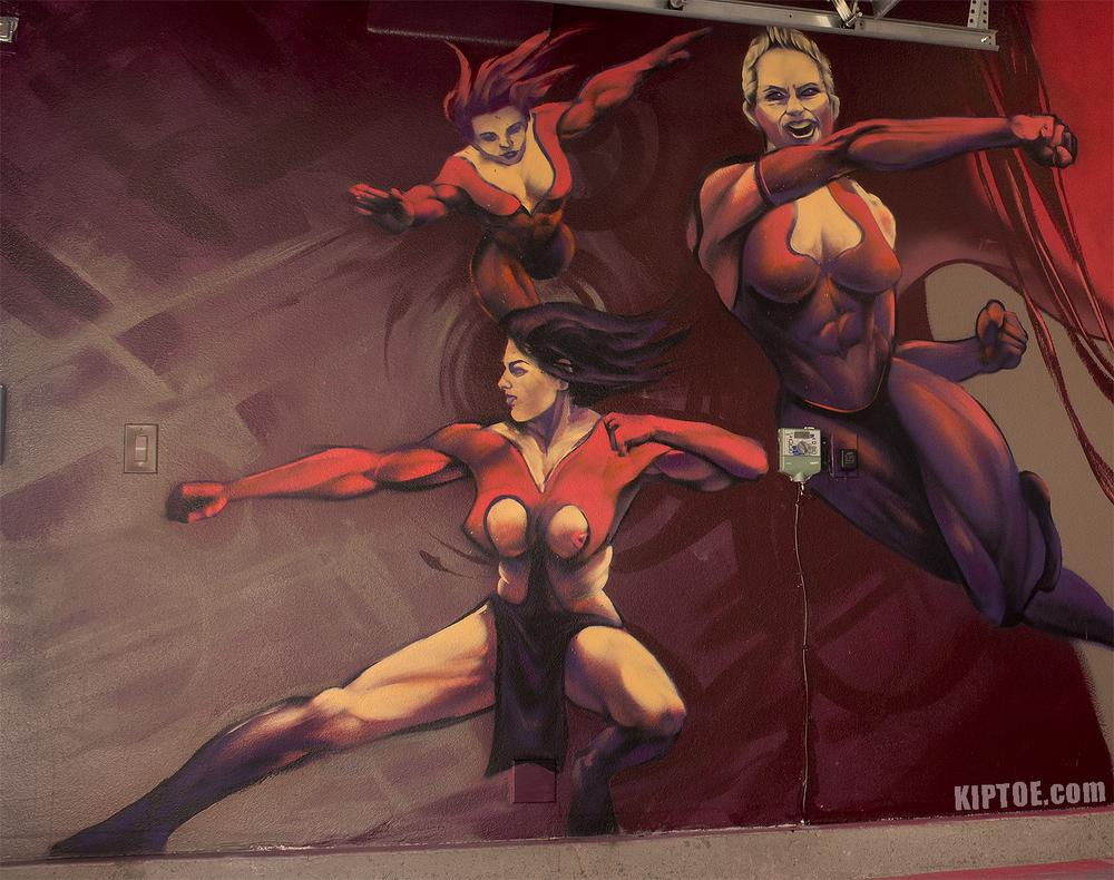 Female Superhero Garage