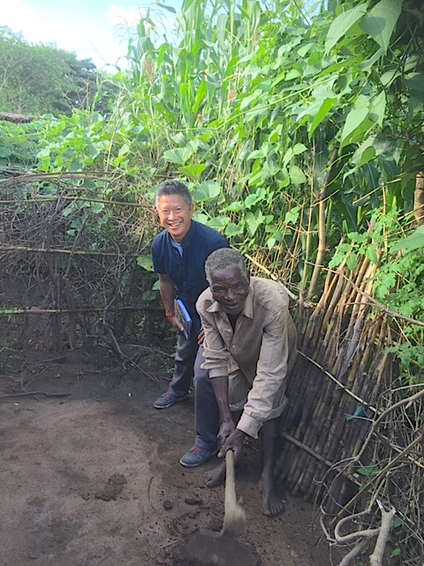 2.21.2017 photo of older man's new garden, that Ken helped dig, GVH Khombe.jpg