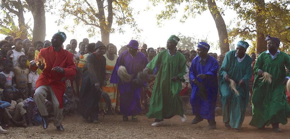 Kazitenge Village Chiefs Dancing at F2F Event