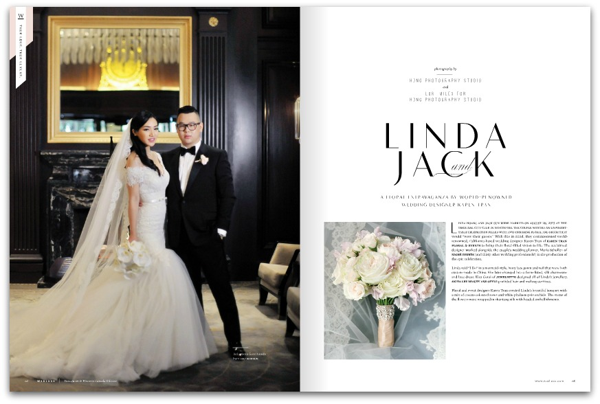 Linda & Jack, photographed by  Hong Photography