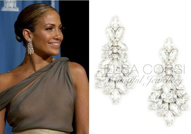 Jennifer Lopez Inspired Crystal Earring, see more designs www.elsacorsi.com