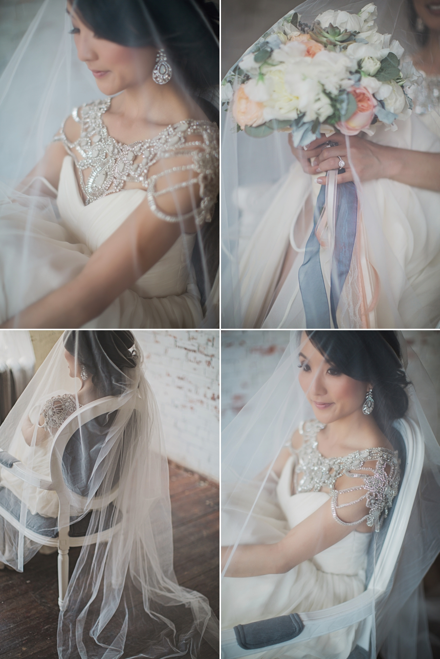 Real Bride wearing #HayleyPaige with custom Elsa Corsi Jewelry (www.elsacorsi.com) Photos by Sharon Litchfield