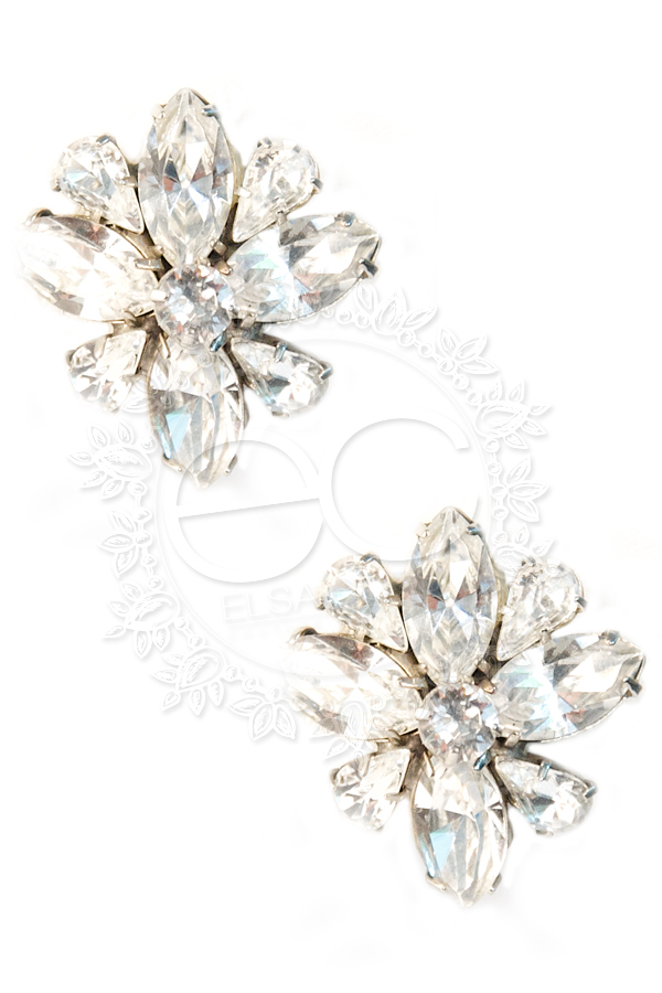 Swarovski Crystal Wedding Wedding Earrings Custom Made by Elsa Corsi http://www.elsacorsi.com/shoponline/petite-jasmine-necklace