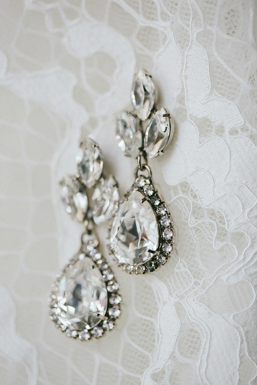 Pave Wedding Earrings Vancouver, Elsa Corsi