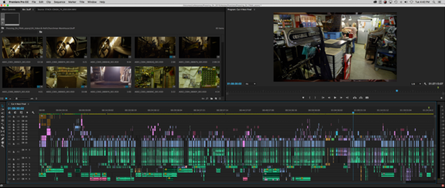 Editing timeline of Pressing On