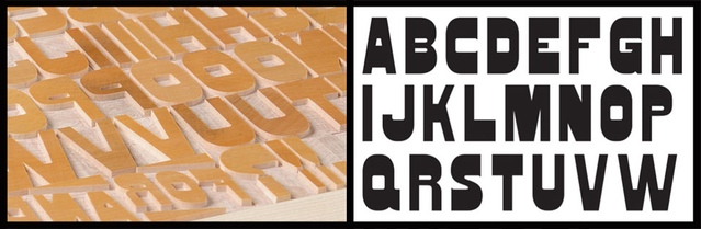 The Virgin Wood Type Manufacturing Company has been carving end-grain maple into type since 2010 using an original American Wood Type Manufacturing Company pantograph to cut trees into letters and sell them to printers.