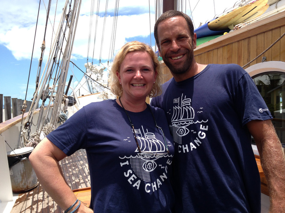 Caroleigh Pierce and Jack Johnson on the SEA Change Expedition