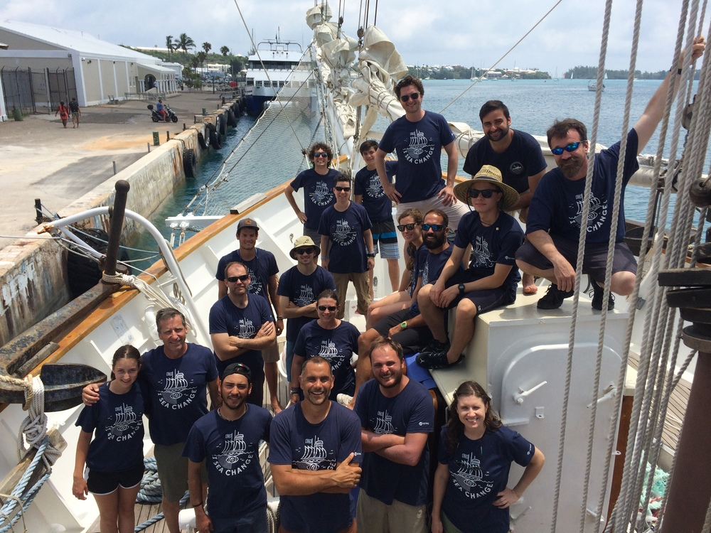 Orestis with SEA change Expedition Crew (leg 3, Bermuda to NY)