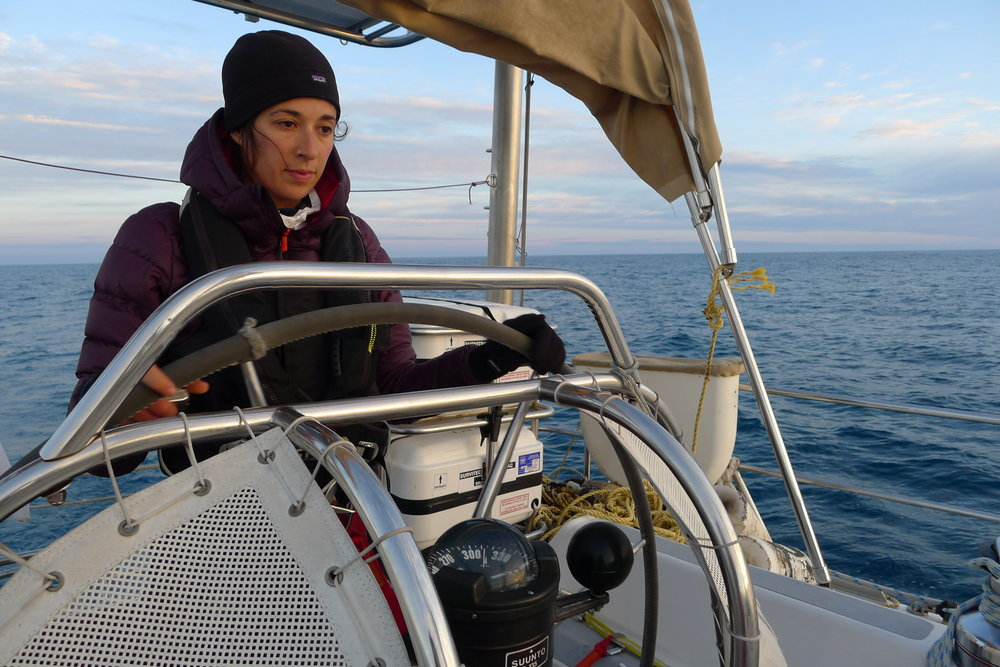 Many of our Ambassadors participate in our Annual Expeditions. Genevieve was crew on our Viking Gyre Expedition from Bermuda to Iceland in 2014.