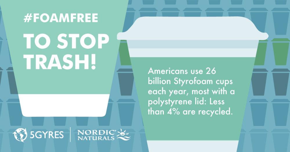 Go #foamfree to stop trash! www.5gyres.org/styrofoam @5Gyres #5gyres #moreoceanlessplastic