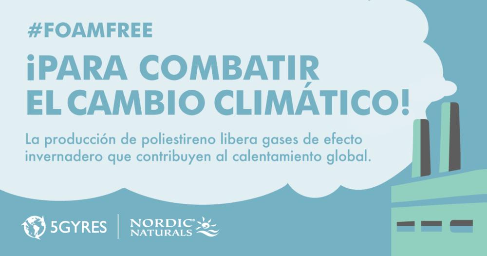 Ir #foamfree para combatir el cambio climatico! www.5gyres.org/styrofoam @5Gyres #5gyres #masoceanomenosplastico