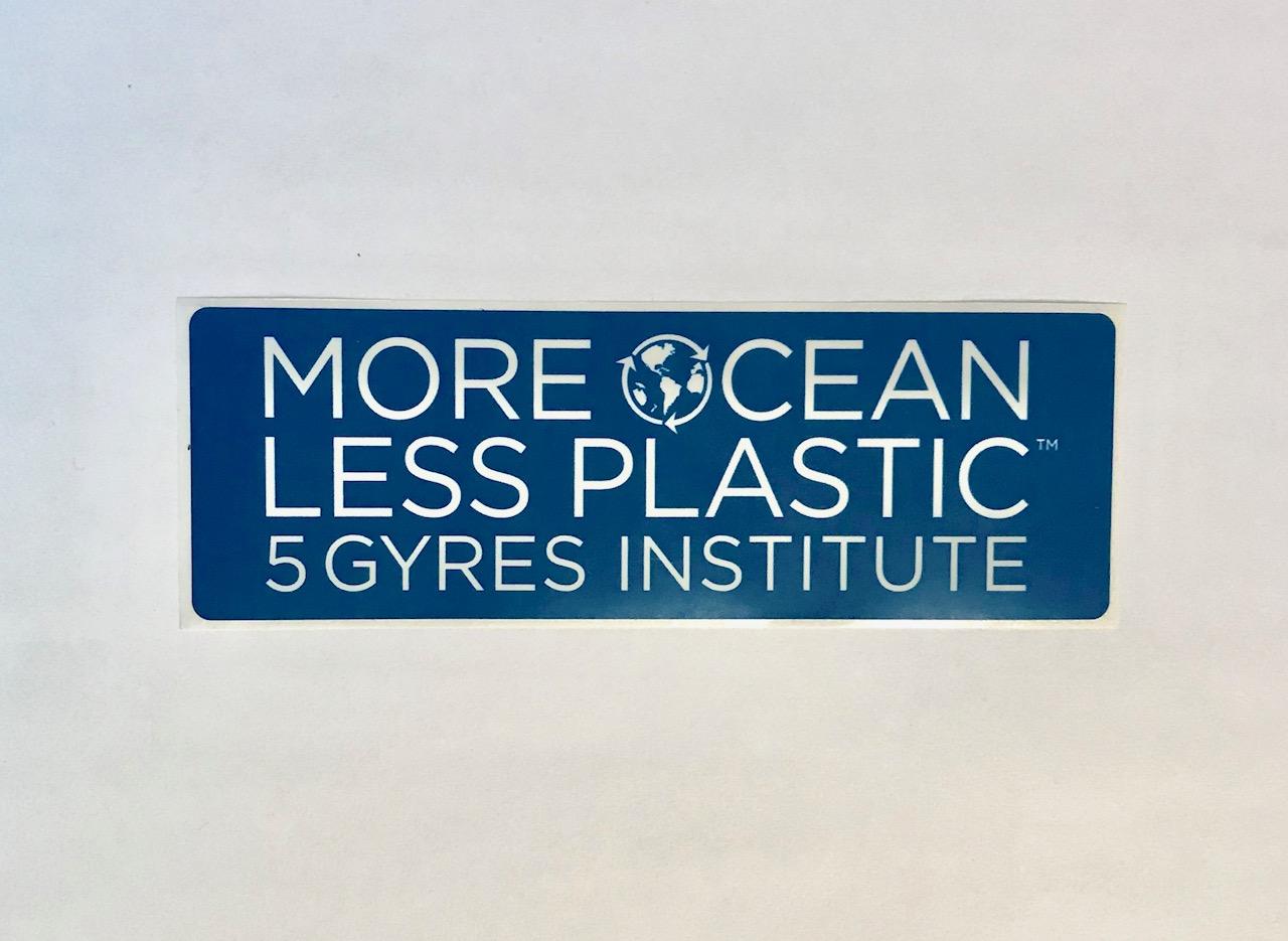 More ocean less plastic sticker 5gyres org
