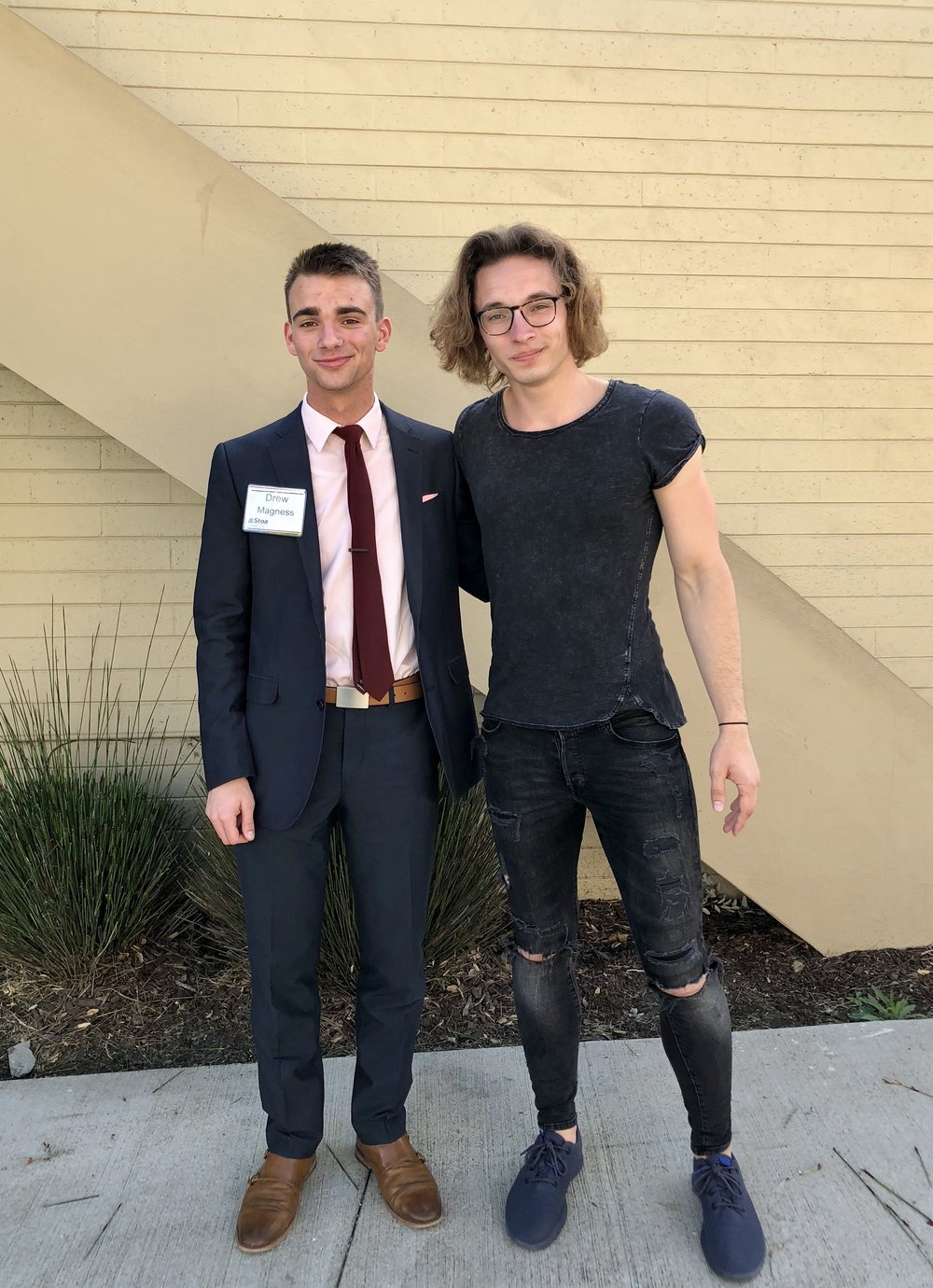 Joseph and Drew before the NITOC 2018 Awards Ceremony.