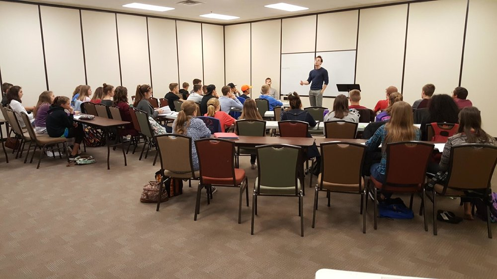 Joseph opens camp by delivering the  Ace Peak Method : The sequence of learning debate through character, comprehension, logic, strategy, and persuasion.