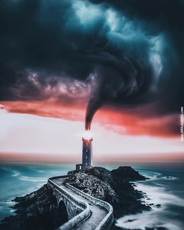 """Comment """"🌪"""", and I'll pick 5 of you for shoutout on my insta stories‼️ ••• Follow @jurrry for more edits! vortex *2017 ⠀ ⠀ ⠀ ⠀ ⠀ ⠀ #edited #photoshop #dusk #photo #photooftheday #nature #seascape #storm    #lightening #lighthouse #manipulation #lightroomedits #edited #glowup #storm #bridgestone    #dusktildawn #photographylovers #photoshoot #photography #sunset #vision #vortex #surreal @lensbible @destination.earth @way2ill_ @superhubs_power @artofvisuals"""