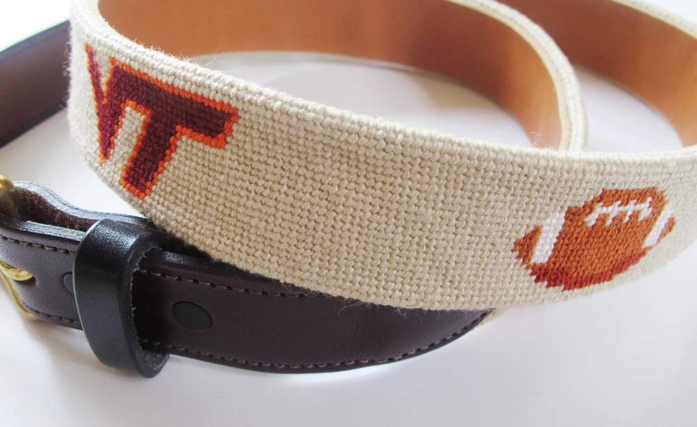 My completed Virginia Tech football belt