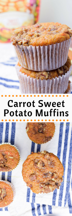 Carrot Sweet Potato Muffins - made with pancake mix!