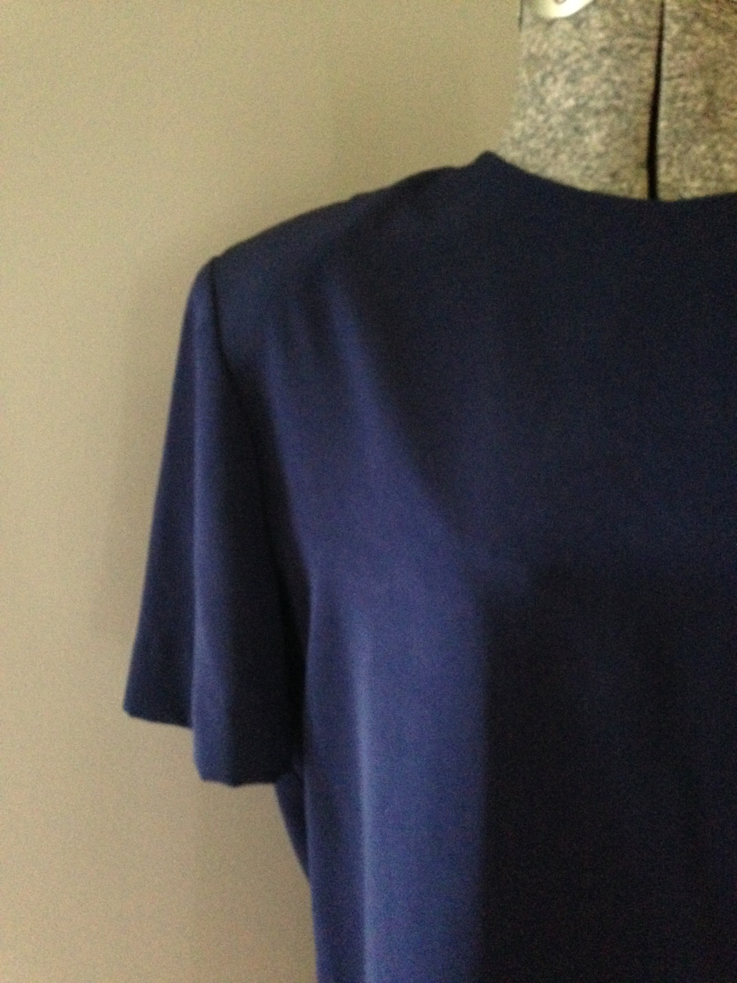vintage navy blue silk blouse $26 - tops - bright lights big pretty