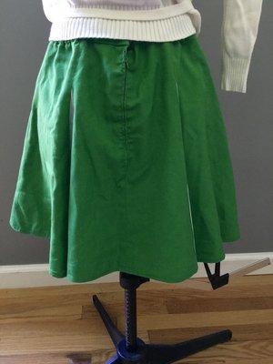 7fa2231b6e8 vintage handmade green and white swingy cheerleading mini  21