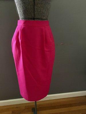 5bbd52b82da vintage hot pink linen-look midi pencil skirt  28