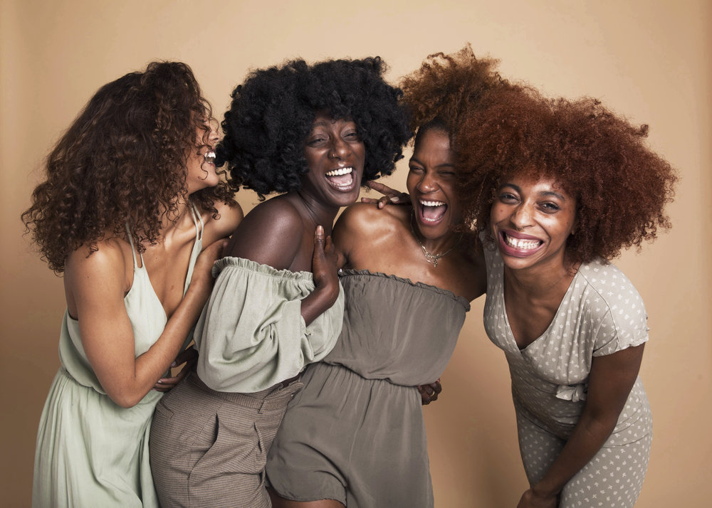 hanahana beauty - A beauty campaign for the skincare brand's 1st year anniversary and the founder's, Abena Boamah, birthday.  Featuring Courtney Phillips, Deun Ivory, and Bridget Botchwav. Art directed and captured by Dominique Shepherd.