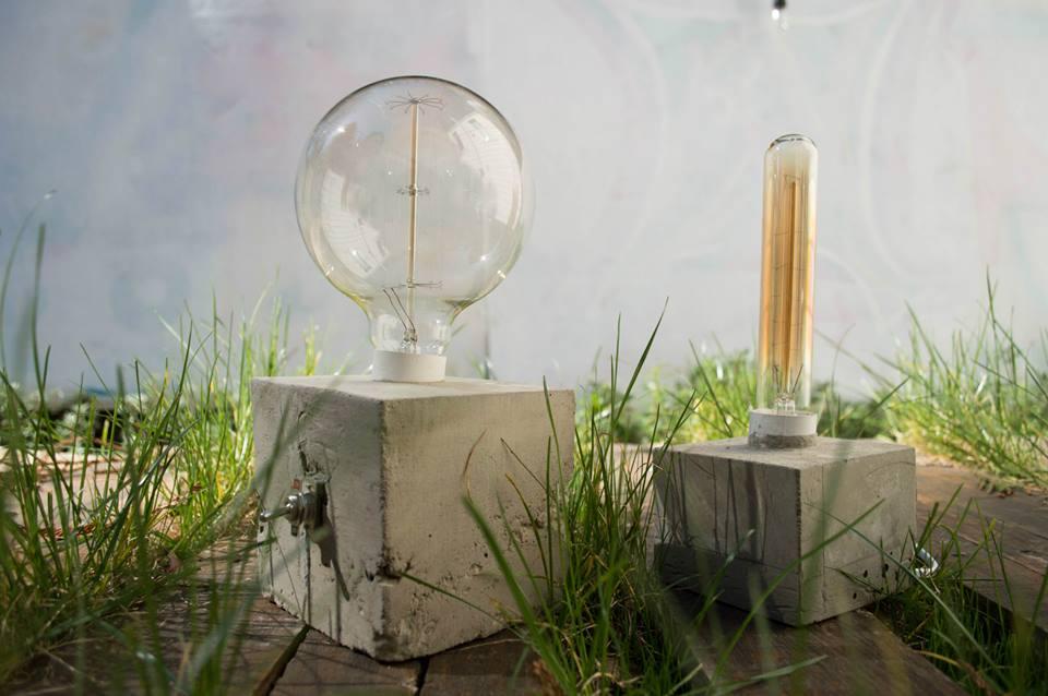 handmade concrete lamps