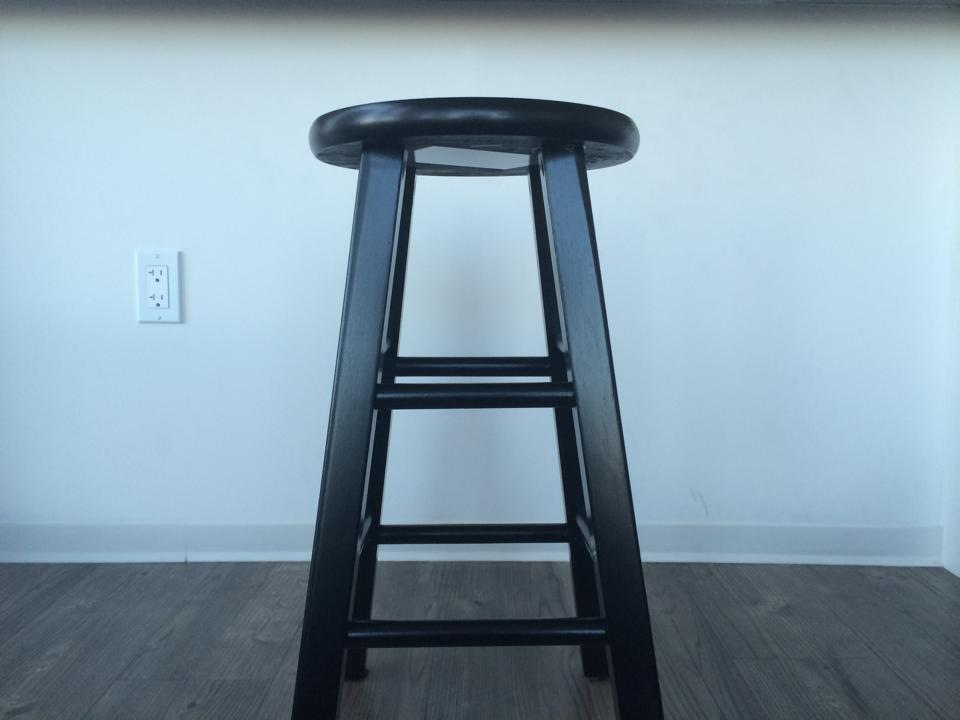 bare and boring stool