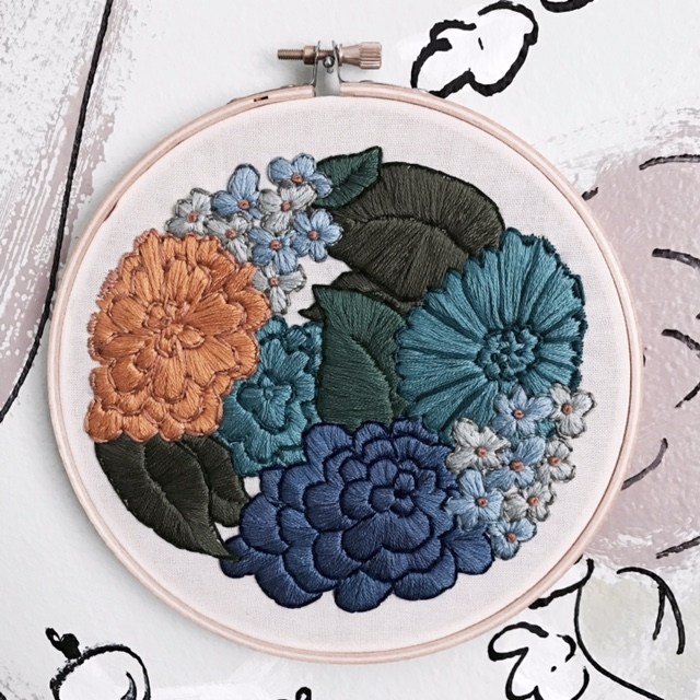 This is my newest embroidery creation, 6 inch hoop! I love it!