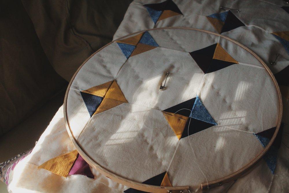 Wabi Sabi Tiny Tiles Quilt (In Progress)