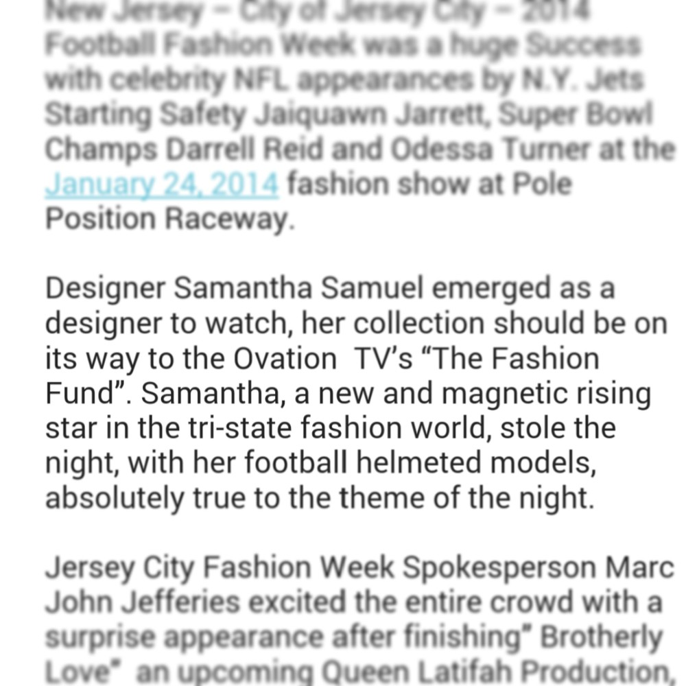 January 2014 Jersey City Fashion Week