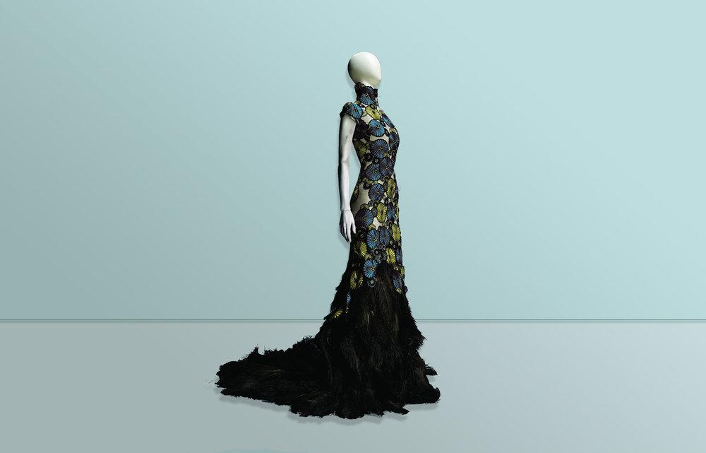 Jacquard Beaded Dress